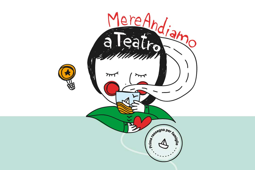 Locandina rassegna teatrale per bambini MereAndiamo a Teatro di OfficinOff - Scicli